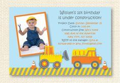 Construction Truck Dump Truck Digger by LittlePrintsParties, $10.00