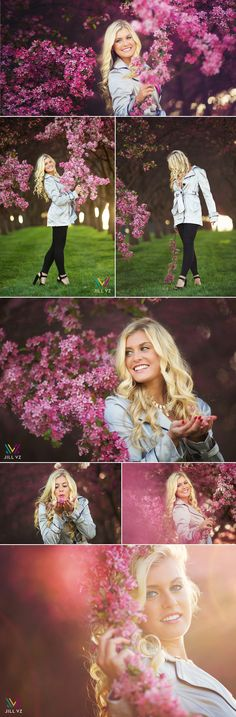 Spring Trees. Johnston, Iowa senior photos in the flowers