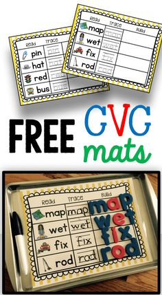 FREE CVC worksheets for kindergarten literacy centers and rotations printables laminate - easy to use - FREE CVC words a Kindergarten Centers, Kindergarten Classroom, Classroom Ideas, Kindergarten Guided Reading, Phonics Centers, Kindergarten Reading Activities, Kindergarten Freebies, Kindergarten Language Arts, Classroom Teacher