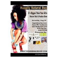 Event: Happily Natural Day Festival in Austell, #GA.  Are you going? via @angelschef08 #naturalhair #teamnatural #naturallyluvly