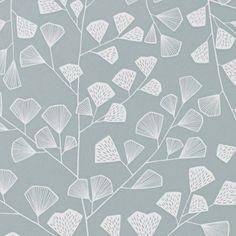 Fern+retro+tapet+1169+fv.+hvid-grå
