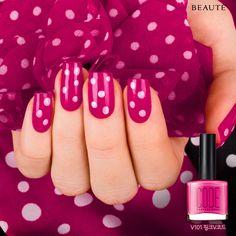 #nails #nailart #polish #pink #polkadots - bellashoot.com