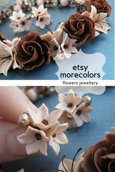 #morecolors_Etsy #flowers_necklace #polymer_clay