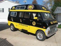 Vintage 1972 Ford Van , Iowa Hawkeye Tailgate Van,,vintage Camper ...