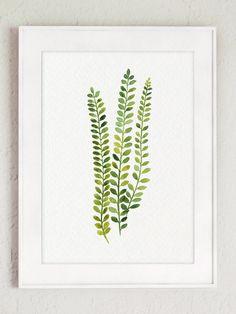 Farn Pflanze Art Print botanische Wohnzimmer Wand Dekor grüne