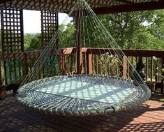 The lovechild of a hammock and a circular bed, the Floating Bed looks like an interesting outdoor furniture option; it rocks/moves like a hammock but also provides a more stable resting space thanks to a larger flat surface area. These can be used indoor or outdoor (with options like a mosquito net or even a memory foam pad), but we could only imagine wanting one outdoors, lest we get pegged for some new age, tantric couple if visitors peeked into a bedroom with one inside...
