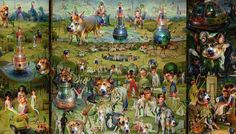 Hieronymus Bosch, The Garden of Earthly Delights #deepdream