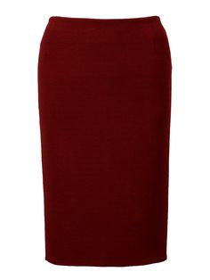 Burgundy High Waist Pencil Skirt