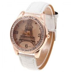 Wholesale Trendy Ibeli Leather Women's Watch Numerals and Dots Hour Marks Dial - White (WHITE), Women's Watches - Rosewholesale.com