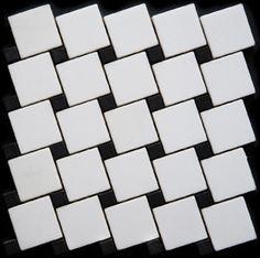 Mozaika marmurowa -  Kolekcja: Tetra 5015 Wave; Kod: TW501510; Wykończenie: ANTICO; Materiał: Thassos Snow White, Macedonian Black; Wym. Kostki: 5,0x5,0 cm, 1,5x1,5 cm; Wym. Plastra:  28,7x28,7 cm