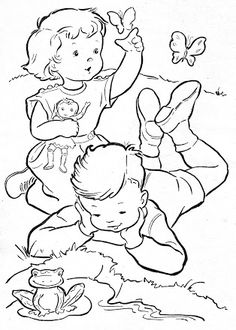 Coloring Book~Blue Boys' Coloring Book – Bonnie Jones – Picasa Web Albums Make your world more colorful with free printable coloring pages from italks. Our free coloring pages for adults and kids. Family Coloring Pages, Coloring Pages To Print, Coloring Book Pages, Coloring Pages For Kids, Coloring Sheets, Vintage Coloring Books, Human Drawing, Colouring Pics, Digi Stamps