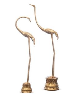 Gilded Pearl Cranes (Set of 2) by SHINE by S.H.O on Gilt Home