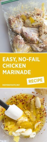 If you�re on the lookout for a simple, no-fail chicken marinade recipe, you�ve found it. Use this for baked or grilled chicken.