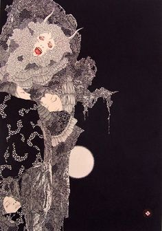 Takato Yamamoto Something about this reminds me of Aubrey Beardsley's work. Absolutely LOVE this piee.