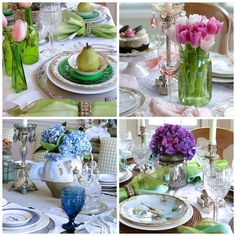 If you're looking for inspiration for entertaining this season, here's an array of spring centerpieces and table decoration ideas.