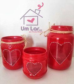 Um lar...: Faça você mesmo: Reciclando potes de vidro! Eu fiz!