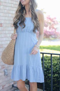 c85af5f8017b5 walmart dresses - blue striped midi dress - pinteresting plans blog