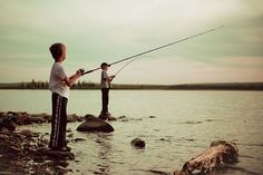 brothers fishing