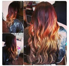 Healthy Hair Is Beautiful Hair..: Multicolored Ombre