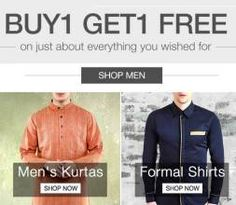 Mens wear Mens wear Buy 1 Get 1 FREE Fabulous offer by Limeroad is here. Just…
