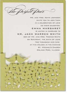 Primavera Laser Cut Wedding Invitations