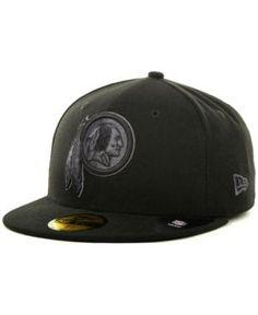 New Era Washington Redskins Black Gray 59FIFTY Cap - Black 6 7 8 35f47a8c6534