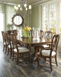 Double Pedestal Dining Table, Fine Furniture Design, Vintage Classics Collection | Home Gallery Stores