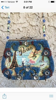Mary Frances Paris purse #MaryFrances #EveningBag
