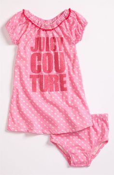 Juicy Couture Dress (Infant) available at Nordstrom Baby Baby, Baby Girls, Baby Shower List, Toddler Outfits, Kids Outfits, Juicy Couture Baby, Princess Nursery, Pink Dot, Makeup News