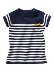 Robe tricot rayée ou à pois bébé fille  - vertbaudet enfant