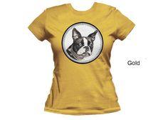 Boston terrier women's t-shirt  dog t-shirt  pet by MimoCadeaux