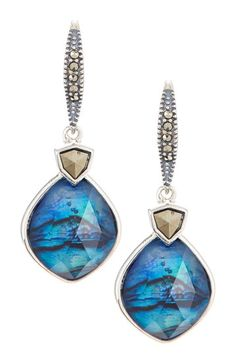 Abalone & Marcasite Drop Earrings by Judith Jack on @HauteLook