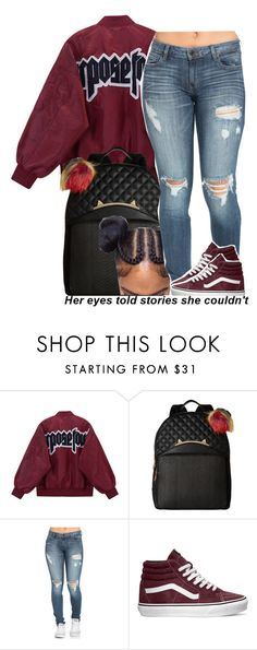 """""""75 degrees in November.."""" by trinityannetrinity ❤ liked on Polyvore featuring Betsey Johnson and Vans"""