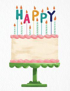 Charming Happy Birthday Cake Card