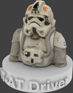 Star Wars AT-AT Driver 1980 Figurine Bust v2.0 by MattRHale.