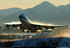 NCA B744 at Anchorage..