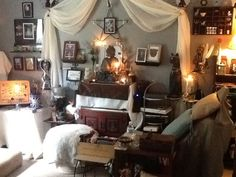 wiccan bedroom themed wicca room decor fireplace furniture witch decorating uploaded user