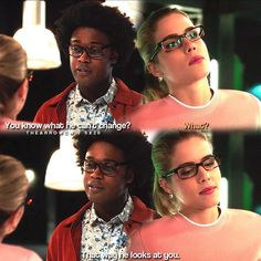 """#Arrow 5x20 """"Underneath"""" - """"You know what he can't change. What? That way he looks at you."""" - #CurtisHolt #FelicitySmoak"""