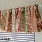 """Window valance using a jelly roll (2 1/2"""" strips)"""