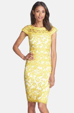 b67c876f5405 Tadashi Shoji Embroidered Lace Sheath Dress (Regular   Petite)
