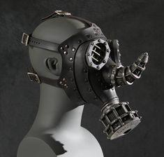 Rhino Gas Mask  Steampunk Leather by TomBanwell on Etsy, $410.00