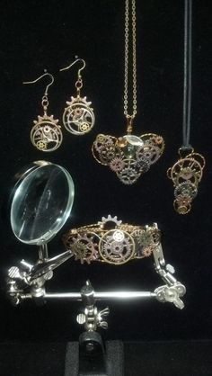 All Geared Up Collection! - Jewelry creation by kimberly newman Jewelry Sets, Jewelry Making, Diamond Earrings, Drop Earrings, Bead Shop, Jewelry Patterns, Tim Holtz, Creative Design, Gears