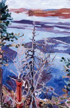 Spring Ice as Seen from the Roof of Kalela Akseli Gallen-Kallela - 1916