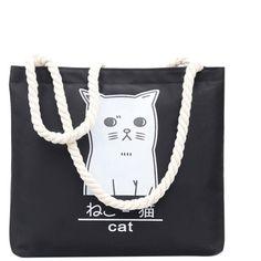 Cat Print Shopper Bag ❤ liked on Polyvore featuring bags, handbags, tote bags, shopper handbag, shopping bag, shopper tote, shopper purse and cat shopping bag