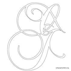 Free Printable Calligraphy Letter Stencils to Print. Calligraphy Style Letters in Stencil Format. Coloring Letters, Coloring Books, Coloring Pages, Colouring, Cursive Calligraphy Alphabet, Typography Letters, Penmanship, Velvet Quilt, Alphabet Stencils