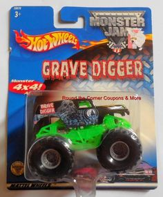2002 Hot Wheels Grave Digger Monster Jam 1 64 for sale online Monster Jam, Monster Trucks, Digger, Red Dots, Hot Wheels, Diecast, Cars, Metal, Birthday