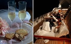 sleeping under the stars. Love this but will be in winter, so might not be possible. I think we should style for winter wedding? Luxury Cruise Lines, Luxury Sheets, Sea Dream, Sleeping Under The Stars, Yacht Club, Wedding Images, The Twenties, Create Your Own, Alcoholic Drinks