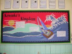 Kensuke's Kingdom Display Year 6 Classroom, Classroom Display Boards, Display Boards For School, Classroom Organisation, Classroom Displays, Bulletin Boards, Classroom Ideas, Class Displays, School Displays