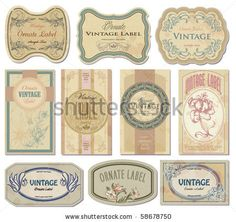 stock vector : vintage labels set, vector