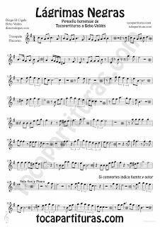 Lágrimas Negras de Bebo Valdés partitura para Trompeta y Fliscorno partitura de Bolero Jazz Guitar Lessons, Play It Again Sam, Bolero, Trumpet, Flute, Sheet Music, Musicals, Learning, Partitions